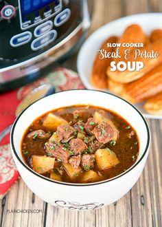 Slow Cooker Steak and Potato SoupReally nice recipes. Every  Blog: Alles rund um die Themen Genuss & Geschmack  Kochen Backen Braten Vorspeisen Hauptgerichte und Desserts #hashtag