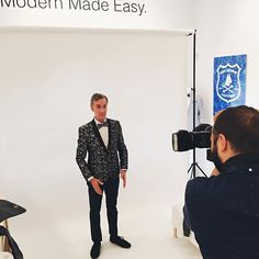 #bts from yesterday's shoot w/ @billnye. The bow tie collection is coming soon... #ModernMadeEasy