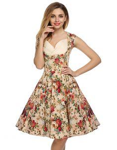 ACEVOG señora atractiva elegante de las mujeres con cuello en V sin mangas de la alta cintura del partido sólido ocasional vestido plisado Midi