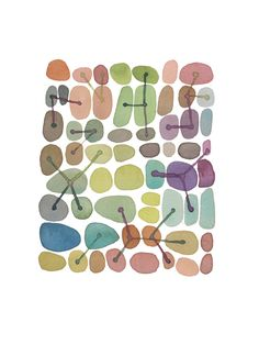 Color connections watercolor pebbles print by LouiseArtStudio on Etsy $30 Ships from the Netherlands.