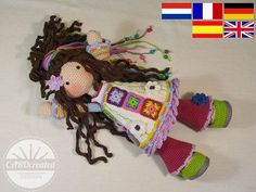 Crochet pattern for doll YUNA pdf  Deutsch English