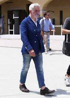 Suit Fashion, Denim Fashion, Fashion Outfits, Blazer Outfits Men, Mode Costume, Estilo Denim, Style Masculin, Mode Jeans, Street Style Summer