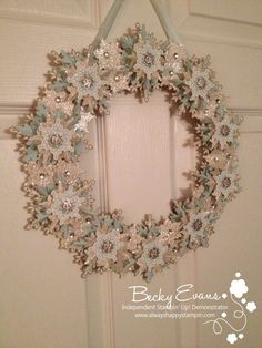Festive Flurry Snowflake Wreath