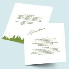 Hochzeits-Einleger als Zusatzkarte - Gipfel des Glücks