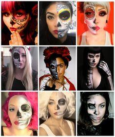 Crafty Lady Abby: DIA DE LOS MUERTOS: Half Calavera Makeup