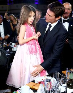 Tom Cruise picked the perfect date for his big night out. We love you Suri!