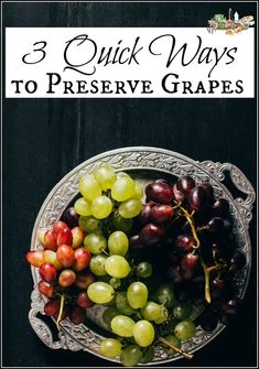 Designs For Garden Flower Beds 3 Quick Ways To Preserve Grapes L Easy And Efficient Methods For Preserving Grapes In Minutes L Homestead Frozen Grapes, Healthy Snacks, Healthy Recipes, Delicious Recipes, Fruit Preserves, Eat Seasonal, Red Grapes, Food Waste, Canning Recipes