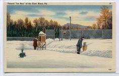 US Weather Bureau Station in Winter Kane Pennsylvania 1959 postcard