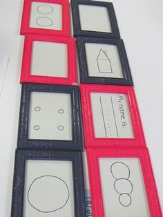 Glass Markers can be used on the glass of a picture frame.  Awesome idea.