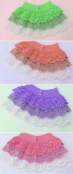 Skirt of Pineapples to Crochet Very Easy Step by Step