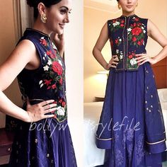 Taapsee Pannu wore Sahil Kocchar outfit and Raabta by Rahul earrings for Jagran Film Festival @bollywoodstylefile 😘😘😘 . #bollywoodstylefile #bollywood #bollywoodactress #tapseepannu #tollywood #instabollywood #instantbollywood #mbcbollywood #bollywoodfashion #ethnicwear