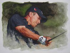 Canadian golfer Mike Weir by Glen Green 24x18