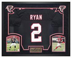 2dbdd6015 Matt Ryan Autographs   Matt Ryan Atlanta Falcons Autographed Custom Jersey  Custom Framed Shadow Box Fanatics