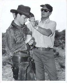 John Wayne and Ricky Nelson