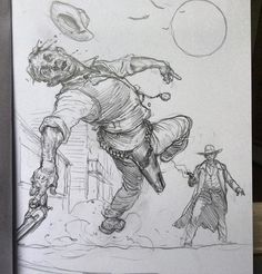 "4,841 Likes, 35 Comments - Karl (@karlkopinski) on Instagram: ""Western shootout doodle #sketching"""