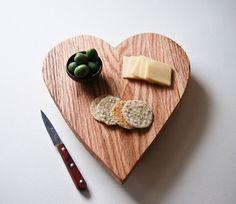 Rustic Heart Cutting Board. Handmade by grayworksdesign, $70