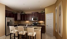 Home is where the kitchen is! This is inviting kitchen is part of our Hamilton Floor Plan.   www.lennarcentralflorida.com/orlando.htm
