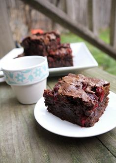Fresh Cranberry Brownies