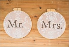 mr. and mrs. signs can be used again in your new home. way cute!
