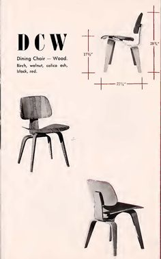 Eames DCW #eames #dcw as illustrated in a 1948 @hermanmiller Catalog