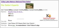 https://flic.kr/p/HW6CRV   2 Days Lake Nakuru National Park safari kenya   For Information and Detailed itinerary click the link. www.kenafrictoursandtravel.com/2_days_lake_nakuru.html
