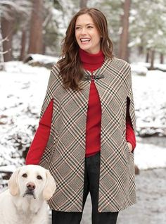 Catherine The Great Style Icon: Plaid Winter Cape for Women - Classic Glen Plaid Cape -- Orvis UK Cape Jacket, Cape Coat, Winter Outfits, Cool Outfits, Fashion Outfits, Steampunk Fashion, Gothic Fashion, Mode Kimono, Winter Cape