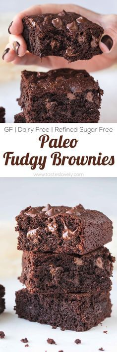 Paleo Fudgy Almond Flour Brownies (dairy free, gluten free, grain free, refined sugar free, clean eating)