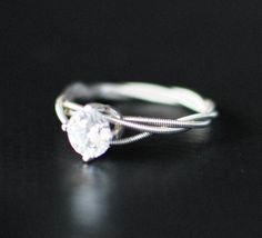 Guitar String Engagement or Purity Ring Triple by dremeWORKS