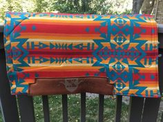 Performance Western Saddle Pad with Authentic Pendleton Wool - Condensed Turquoise