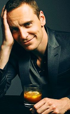 Love is having Whiskey Cocktail with Michael Fassbender.   Yes, it sure is!