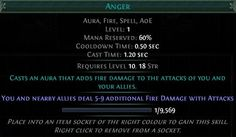 Path of Exile Skill Overview - Anger