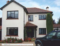 Crittall style aluminium windows with horizontal astragal bars