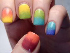 Rainbow Gradient by Spellbound Nails
