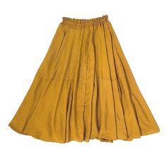 Golden rayon is like silken sunshine - The Curator Grace Skirt in Turmeric. Medicinal. xoxo http://www.melange4women.com/cugrsktu.html
