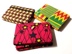 Carnet de notes waxés / notebook with african print / by WaxinDeco / eshop.waxindeco.com
