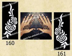 Arabic design Henna stencil sticker design by Indoarabfashions