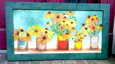 Sunflowers in Tins (oil)