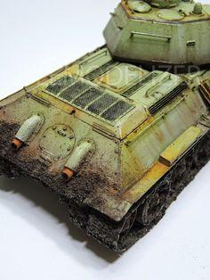 Bien seguimos actualizando esta bitácora que está un poco retrasada. En este caso con las fotos finales de este T 34-76 que pronto será incl...