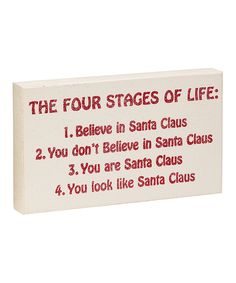 'Four Stages of Life' Box Sign