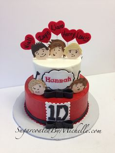 My One Direction Cake-and it has Hannah's name!