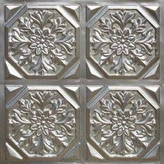 "Decorative Ceiling Tiles, Inc. Store - Snowflake Fantasy -  Faux Tin Ceiling Tile - Glue up - 24""x24"" -"