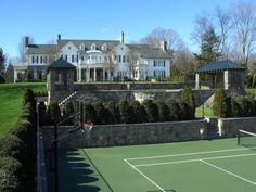 House Tour: Tommy Hilfiger's Stone Hill Estate.  It would be really nice to have tennis courts at my future house :) <3 Kellie