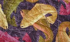 Fabric inspiration for The Fish Quilt  by Julie Baird