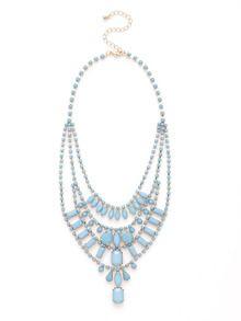 Multi-Tier Acrylic Bib Necklace by Adia Kibur at Gilt