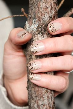 EASY Fall-Inspired Gradient Glitter Nails! Step by step tutorial!!!