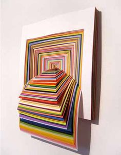contemporary art work and wall decoration made of paper