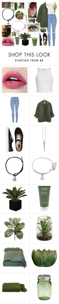 """#17🎶"" by kenziebandgeek ❤ liked on Polyvore featuring River Island, Glamorous, Vans, Alex and Ani, Aveda, Woven Workz and Crate and Barrel"
