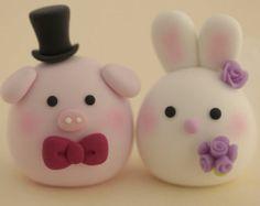Cerdo y Piget torta de bodas