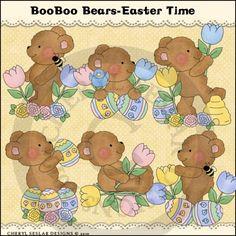 Boo Boo Bears Easter Time 1 - Clip Art by Cheryl Seslar