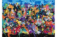 Solo exhibition of all new works by JonOne on view at Galerie Bartoux